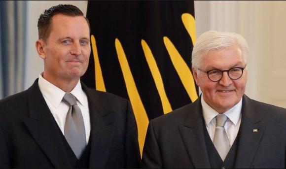 Ambasadorul Richard Grenell alături de Președintele Germaniei, Frank-Walter Steinmeier