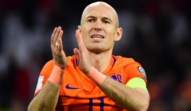 Arjen Robben a marcat ambele goluri ale partidei cu Suedia, ultima pentru el în echipa națională a Olandei