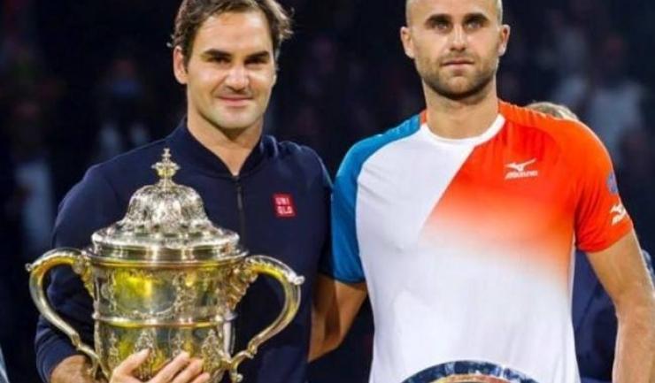 Anul trecut, Roger Federer l-a învins în finală pe Marius Copil (sursa foto: Facebook Marius Copil)