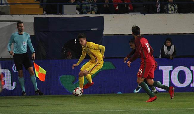 Dennis Man a marcat golul tricolorilor în repriza a doua