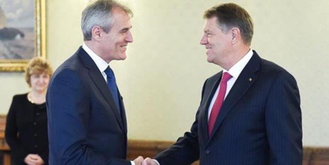 Rainer Seele, directorul general al gigantului austriac OMV şi Klaus Iohannis, preşedintele României (sursa foto: facebook.com)