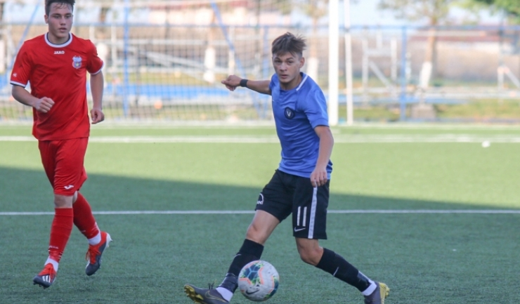 Răzvan Tănasă a înscris trei goluri pentru Academia Hagi U17 (sursa foto: www.academiahagi.ro)