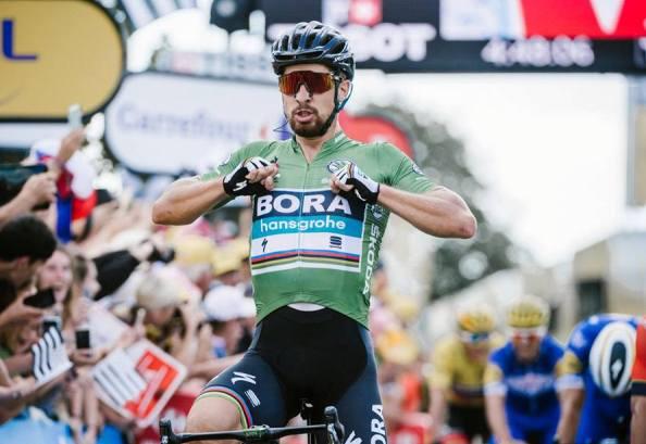 Peter Sagan (Bora-Hansgrohe) s-a impus şi în etapa a doua la actuala ediţie (sursa foto: Facebook Le Tour de France)