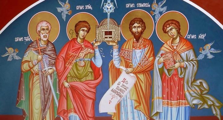 Icoana Sfinților Mucenici Zotic, Atal, Camasie și Filip de la Niculițel