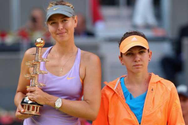 Maria Sharapova şi Simona Halep