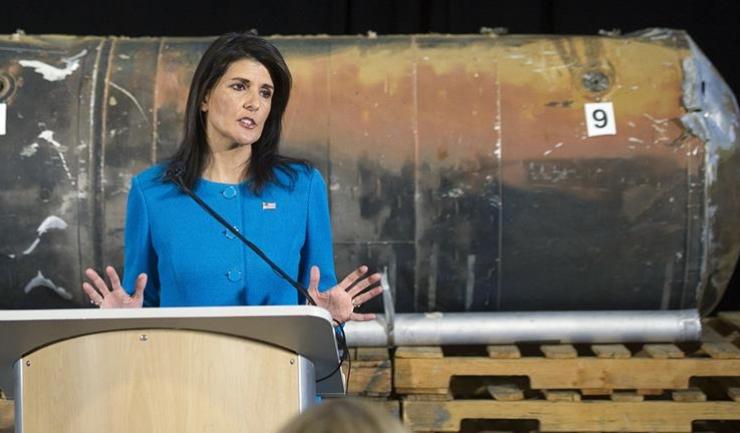 Ambasadorul SUA la ONU, Nikki Haley, a lansat o nouă ofensivă împotriva iranienilor