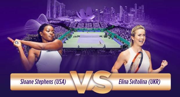 Elina Svitolina a triumfat la Singapore, învingând-o în finală pe Sloane Stephens (sursa foto: Facebook WTA Finals Singapore)