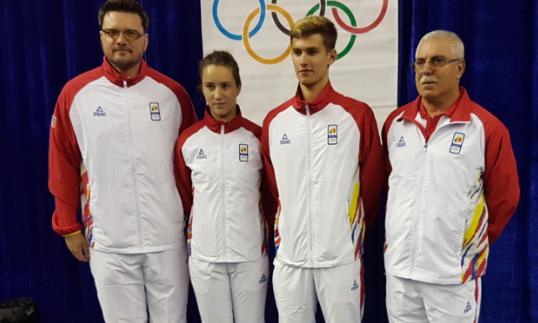 Mădălin Ionaşcu, Andreea Dragoman, Cristian Pletea şi Petre Arnăutu (sursa foto: Federația Română de Tenis de Masă)