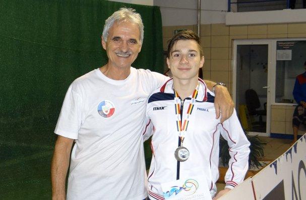 Antrenorul Octavian Tileagă și Alexandru Preda