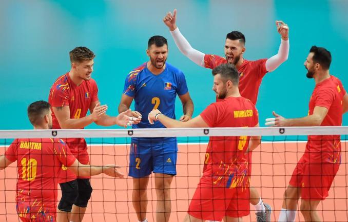 Echipa noastră a obţinut primul set la actuala ediţie a turneului final (sursa foto: www.cev.eu)