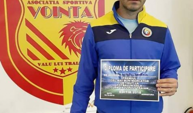 Dorel Zaharia (CS Agigea Old-Boys 2017) a fost golgheterul turneului