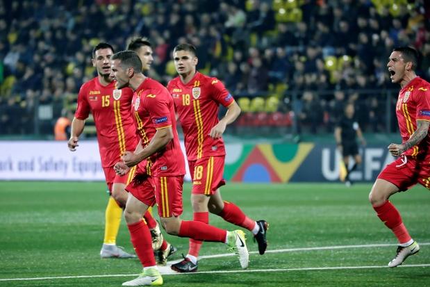 Alexandru Chipciu a marcat primul gol al tricolorilor în partida de la Vilnius (sursa foto: www.frf.ro)