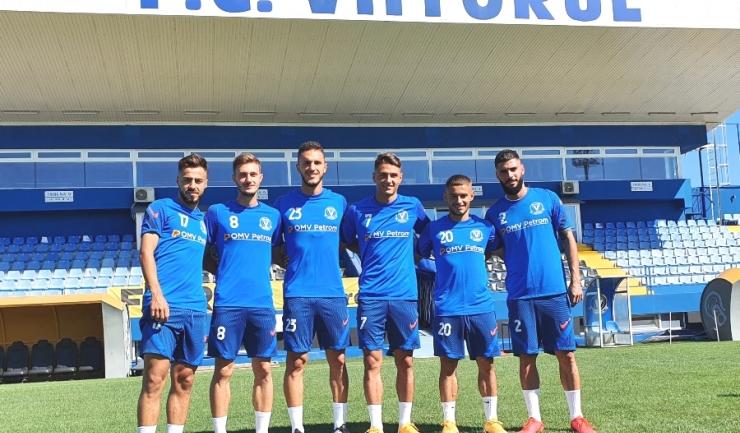 Andrei Ciobanu, Carlo Casap, Virgil Ghiță, George Ganea, Alexandru Mățan şi Radu Boboc (sursa foto: www.fcviitorul.ro)