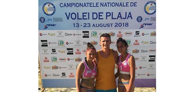 Andra Cojocaru (CS Medgidia) şi Georgiana Popa (CSM Lugoj) au devenit vicecampioane naţionale la cadete (sursa foto: Facebook beachvolleyball.ro)