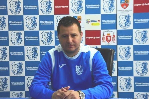 """Ianis Zicu, antrenor principal FC Farul: """"Avem nevoie de cele trei puncte"""""""