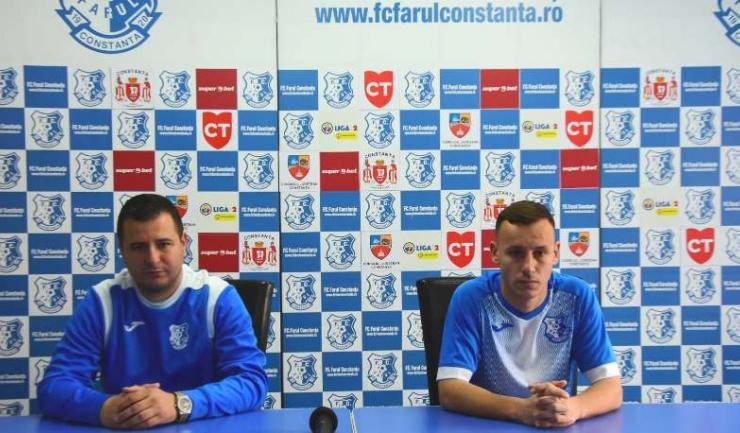 Ianis Zicu şi Antonio Cruceru speră ca Farul să obţină primul succes în deplasare