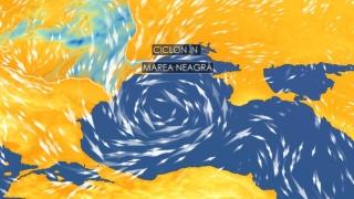 Atenționare meteo! Ciclon în Marea Neagră