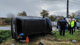 Accident feroviar la Ovidiu! O mașină a fost lovită de un tren