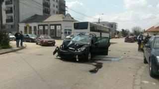 Grav accident rutier în Constanța, cu victime și mai multe mașini implicate