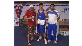 Boxerul Albert Potoceanu, de la CS Năvodari, vicecampion european de cadeți