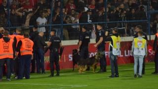 Suporterii dinamovişti, evacuaţi din stadion la partida Viitorul - Dinamo