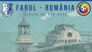 Meci demonstrativ de old-boys între FC Farul Constanța şi România, la Constanța