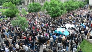 Manifestaţie la Belgrad împotriva unui proiect imobiliar faraonic