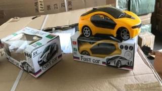 Container cu jucării contrafăcute, venit din China în Portul Constanţa Sud Agigea