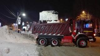 Munții de zăpadă din Constanța, mutați din oraș