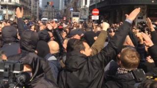 Manifestație la Bruxelles împotriva tratatelor de liber-schimb transatlantice