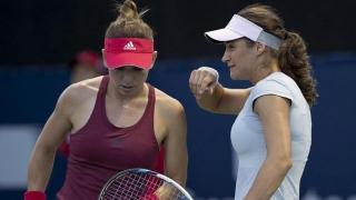 Halep și Niculescu, eliminate în proba de dublu a turneului de la Shenzen
