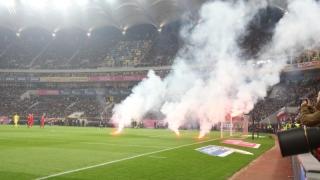 Bătăi, torțe și petarde pe Arena Națională