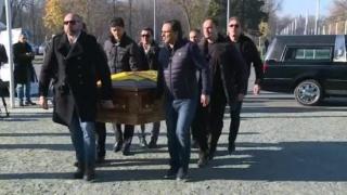 Trupul neînsuflețit al lui Daniel Prodan, depus la Arena Națională