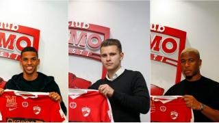Dinamo i-a prezentat oficial pe Bumba, Dielna și Rivaldinho