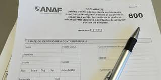 Formularul 600 va putea fi depus până la 15 aprilie 2018