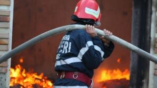 Incendiu la o fabrică de cherestea, în apropierea municipiului Focșani