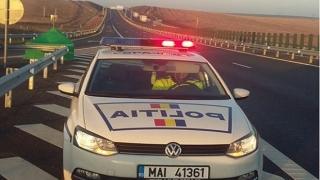 Şofer începător, depistat de poliţişti circulând cu 208 km/h pe autostradă