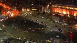 A şaptea zi de proteste în Piața Victoriei din Capitală