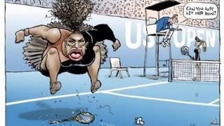 A caricaturizat-o pe Serena Williams după scandalul de la US Open! Ce a păţit