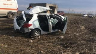 Grav accident rutier. A murit după impactul cu un parapet de beton
