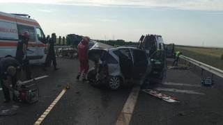 Accident cumplit pe Autostrada Soarelui