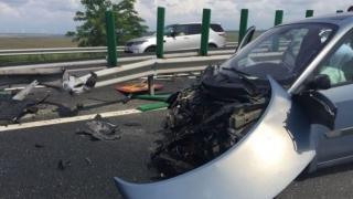 Trafic îngreunat pe autostrada A2, din cauza unui accident