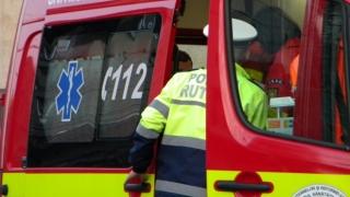 Ambulanță SMURD implicată într-un accident rutier