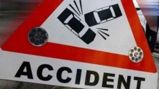 Mașină răsturnată pe strada I.G. Duca, în Constanța