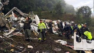 Avionul prăbușit luna trecută în Columbia a rămas fară combustibil în timpul zborului