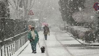 Ninsori şi viscol în sudul României și în Dobrogea