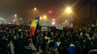A patra zi de proteste în fața Guvernului României