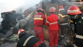 Un autobuz cu 49 de călători a luat foc în mers