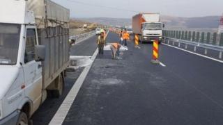 Infotrafic: Continuă lucrările pe autostrada A2