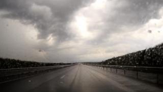 Avertizare INFOTRAFIC! Plouă torențial pe autostrada A2 București – Constanța